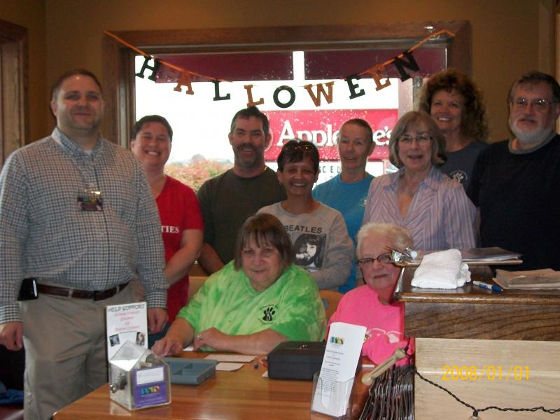 "The Pancake Breakfast ""crew"" at Applebee's"